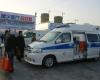 第64届中国国际医疗器械博览会上的医用车辆的露天展区情形。与春季展相比,这次秋季救护车展的规模更大,车型众多,非常成规模。摄影:HC3i记者中可.