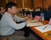 武汉大学中南医院俞思伟博士在认真听演讲